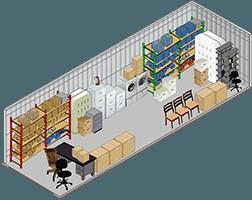 10x20 storage unit at StorQuest Self Storage