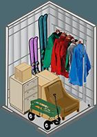 5x5 storage unit at StorQuest Self Storage