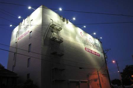 Oakland exterior building night