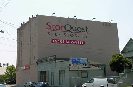 Exterior view of StorQuest Self Storage in Oakland