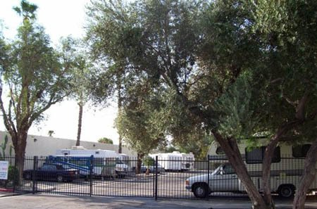 Exterior gated access for self storage units in Palm Springs