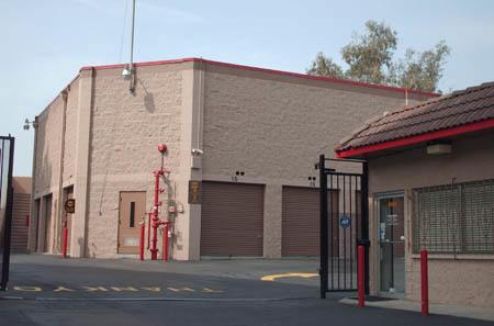 West Los Angeles self storage facility entrance