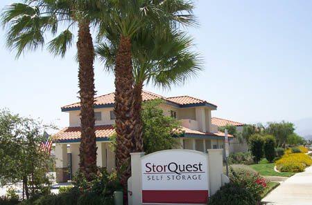 self storage facility entrance at StorQuest Self Storage in La Quinta, CA