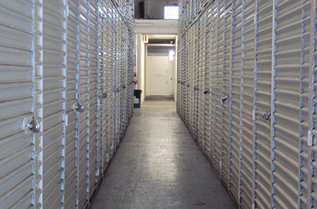 Storage hallway at StorQuest Self Storage