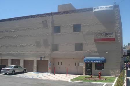 Los Angeles self storage facility entrance