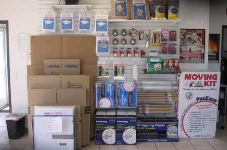 Long Beach packing and moving supplies for self storage
