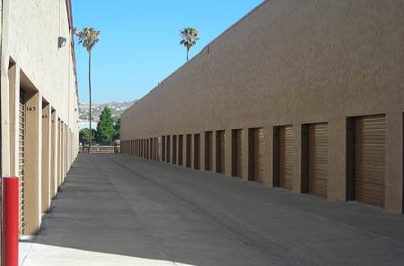 Interior hallway for self storage units in Riverside
