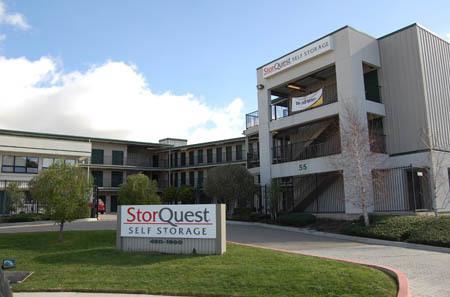 building gated entrance at StorQuest Self Storage in San Rafael, CA