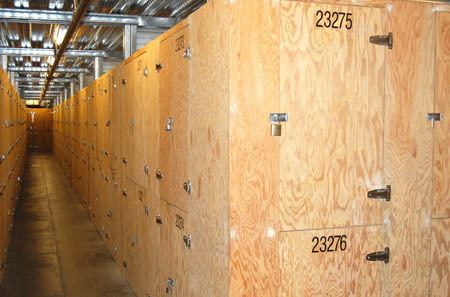 Interior hallway for self storage units in San Rafael