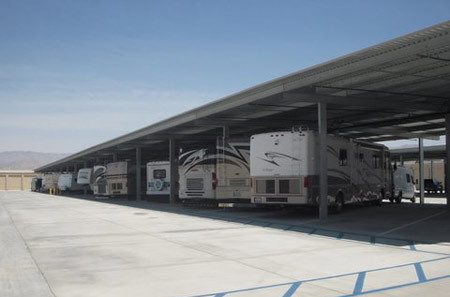 RV storage at StorQuest RV/Boat and Self Storage in Indio, CA