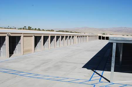exterior for self storage units in Indio