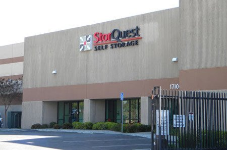 Carson self storage facility entrance