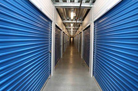 Interior hallway for self storage units in Carson