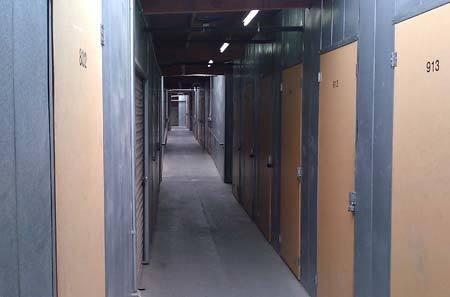 Interior hallway for self storage units in Temecula