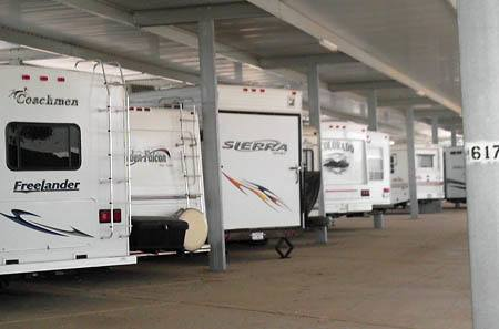 trailor storage at StorQuest RV and Boat Storage in Moreno Valley, CA