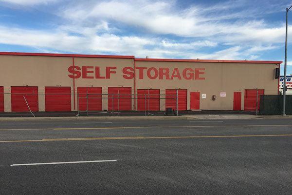 Canoga Park self storage facility entrance sign