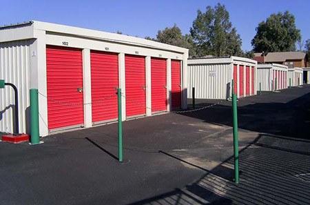 Glendale self storage exterior gate