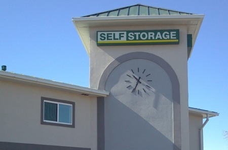 Aurora self storage facility sign