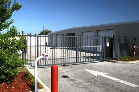 Secure gated storage facility