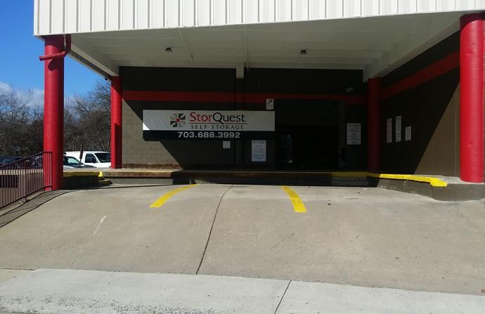Loading zone at StorQuest Self Storage in Arlington, VA