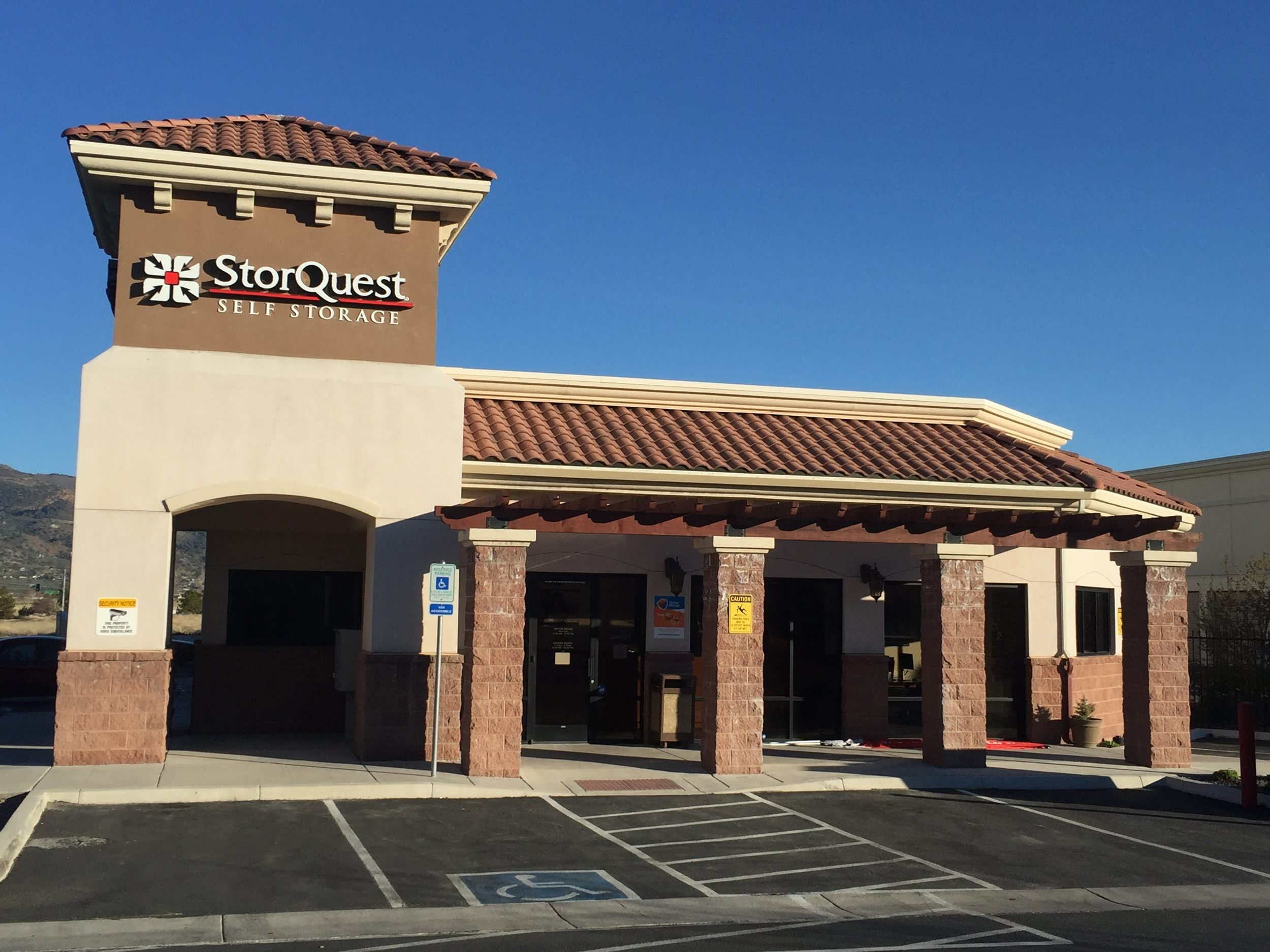Front View Of Storquest Self Storage