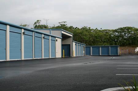 Self storage building exterior in Kea'au