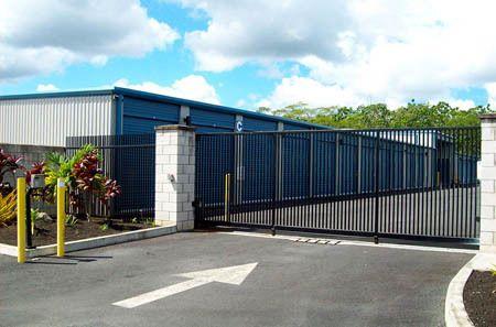 Kea'au self storage facility entrance
