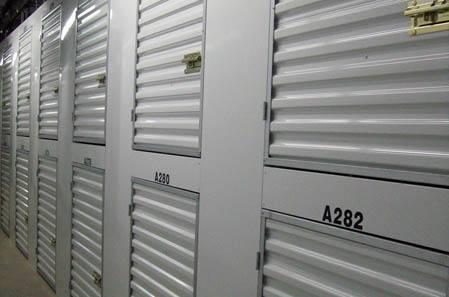 Interior hallway for self storage units in Kea'au
