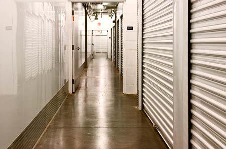 Interior view of storage units at StorQuest Self Storage