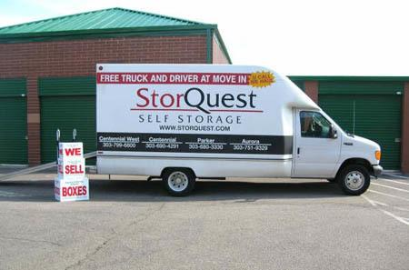 Aurora self storage moving truck