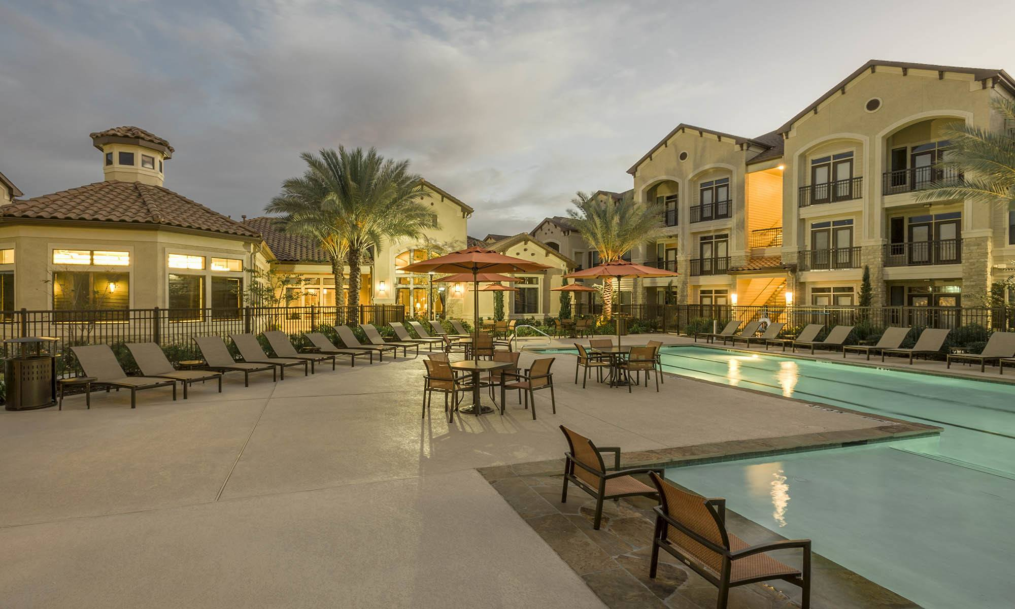 Houston apartments for rent has a safe pool area