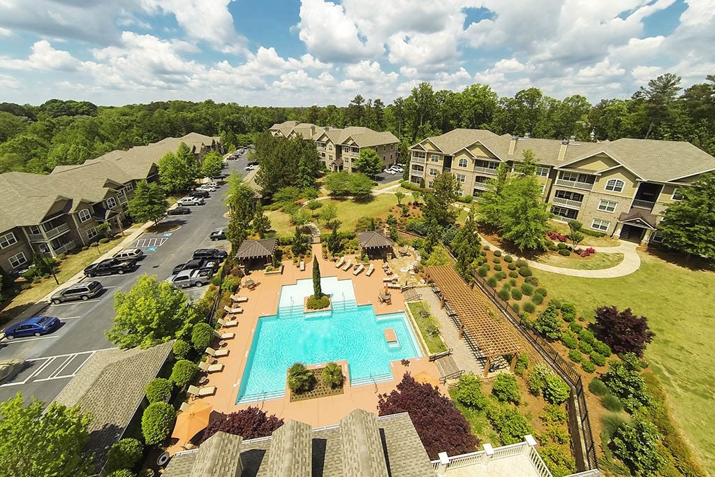 Aerial view of apartments in Newnan