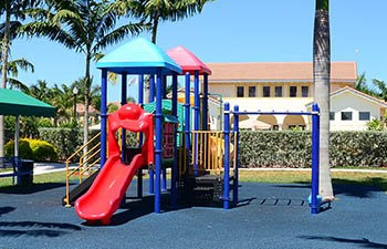 Playground equipment at Palm Breeze at Keys Gate