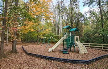Our Lawrenceville apartments feature a private park with playground area