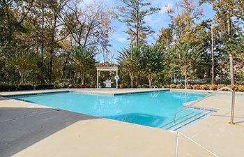 A sparkling swimming pool at our Lawrenceville apartment community