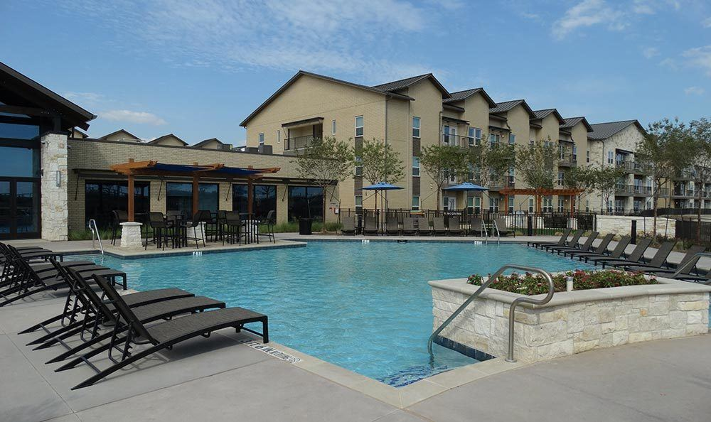 Swimming pool at our apartments in Farmers Branch TX