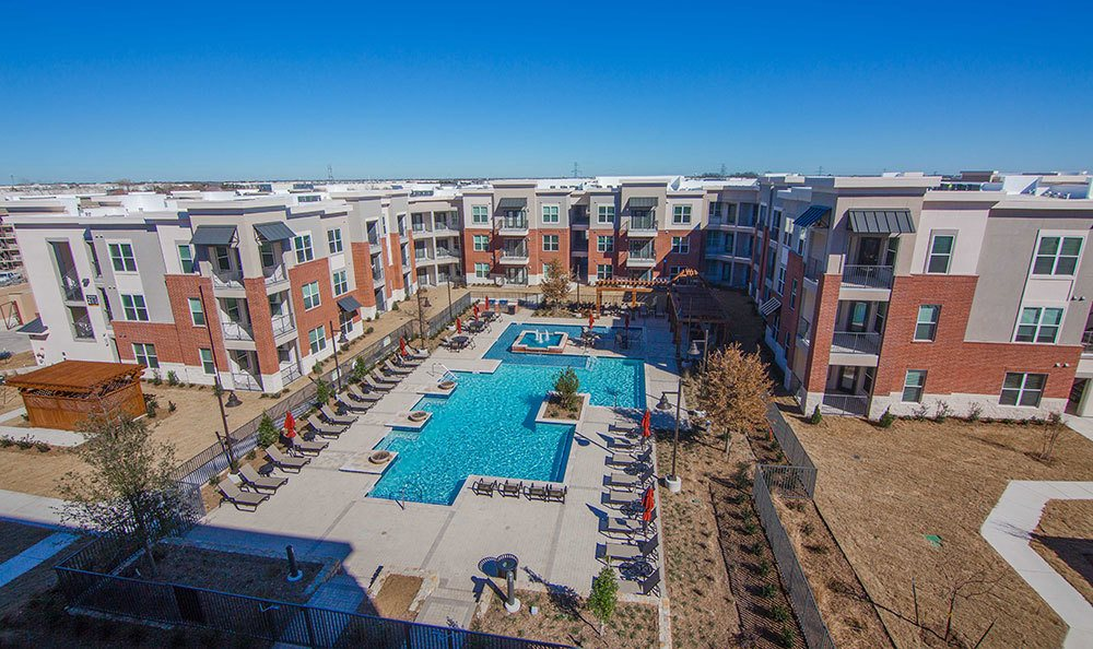 Aerial view of our apartments in Plano