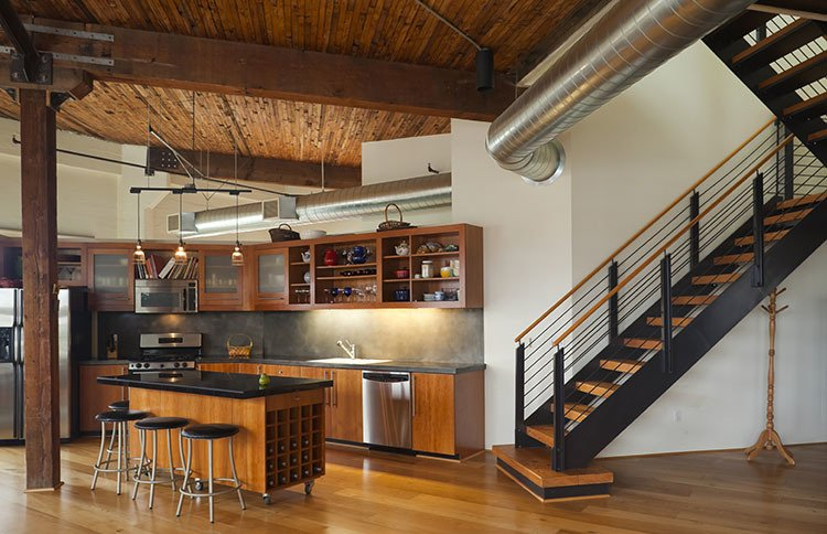 Kitchen in our luxury apartments for rent in Denver, CO.