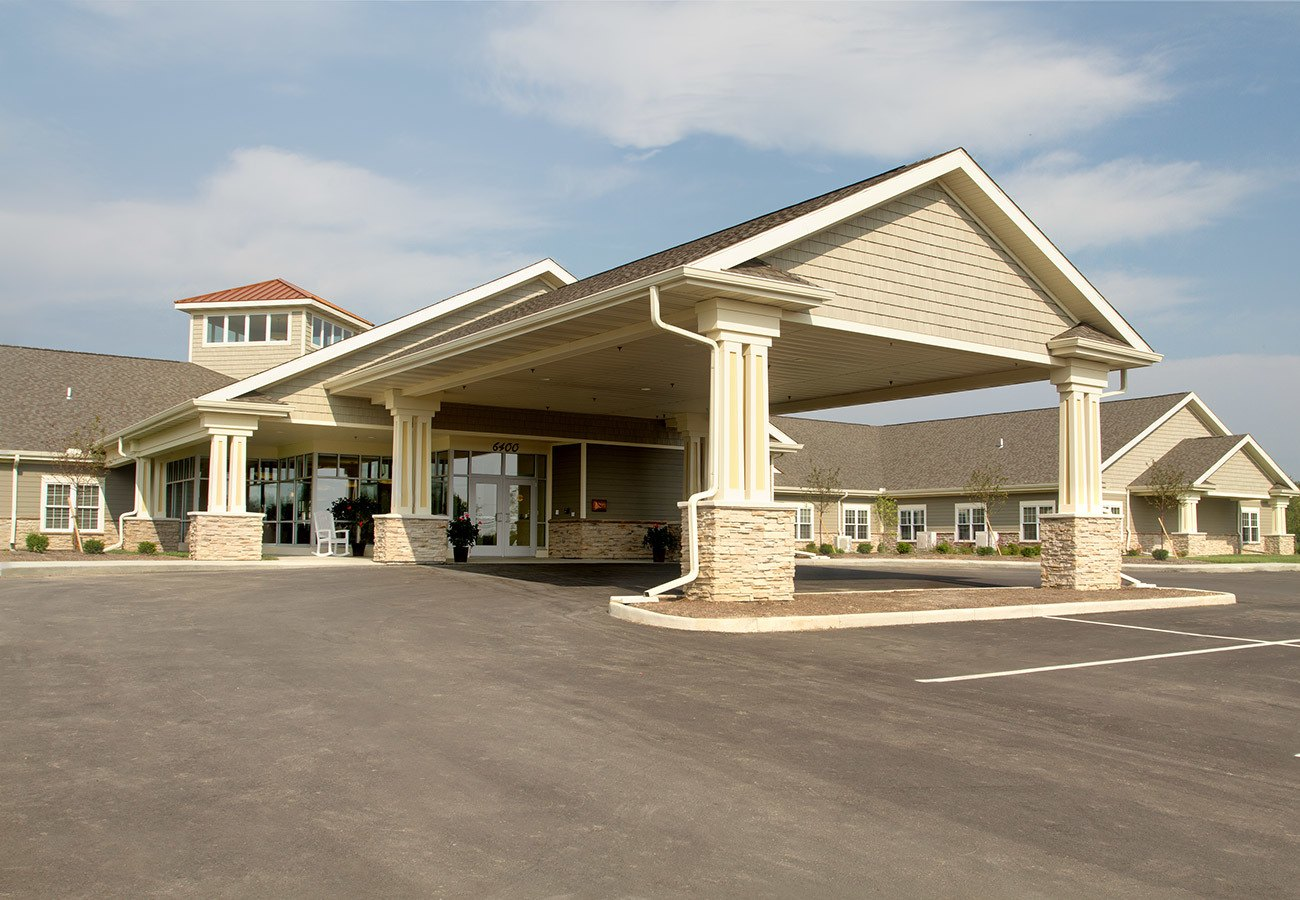 Entrance to our beautiful assisted living community in Tipp City, Ohio.