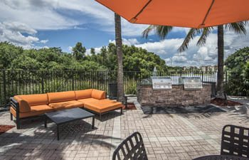 Enjoy our grilling area with friends in Delray Beach