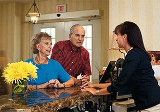 Concierge service at the senior living in Rainbow City