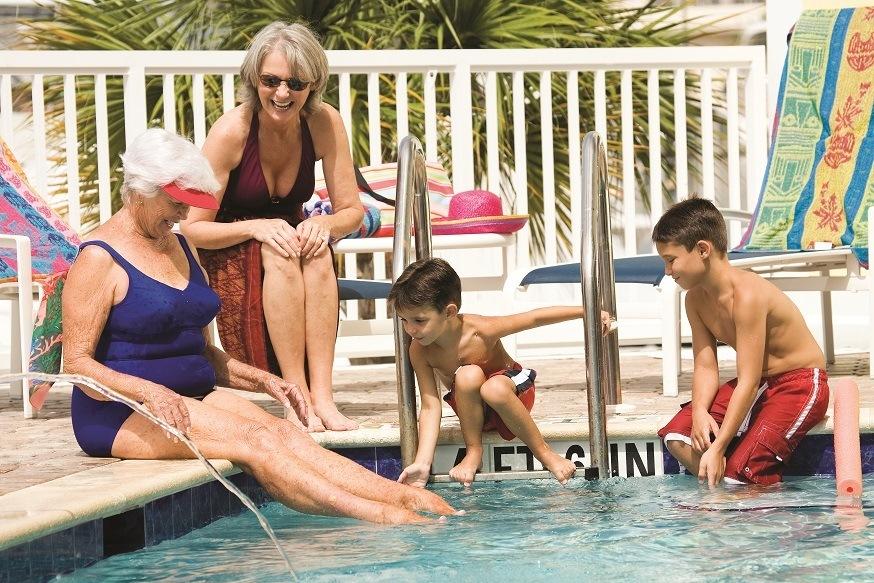 Fun pool area Rainbow senior living