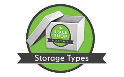 Storage types at Space Shop Self Storage in Roswell