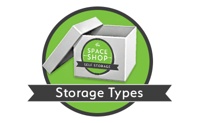 Storage types at Space Shop Self Storage