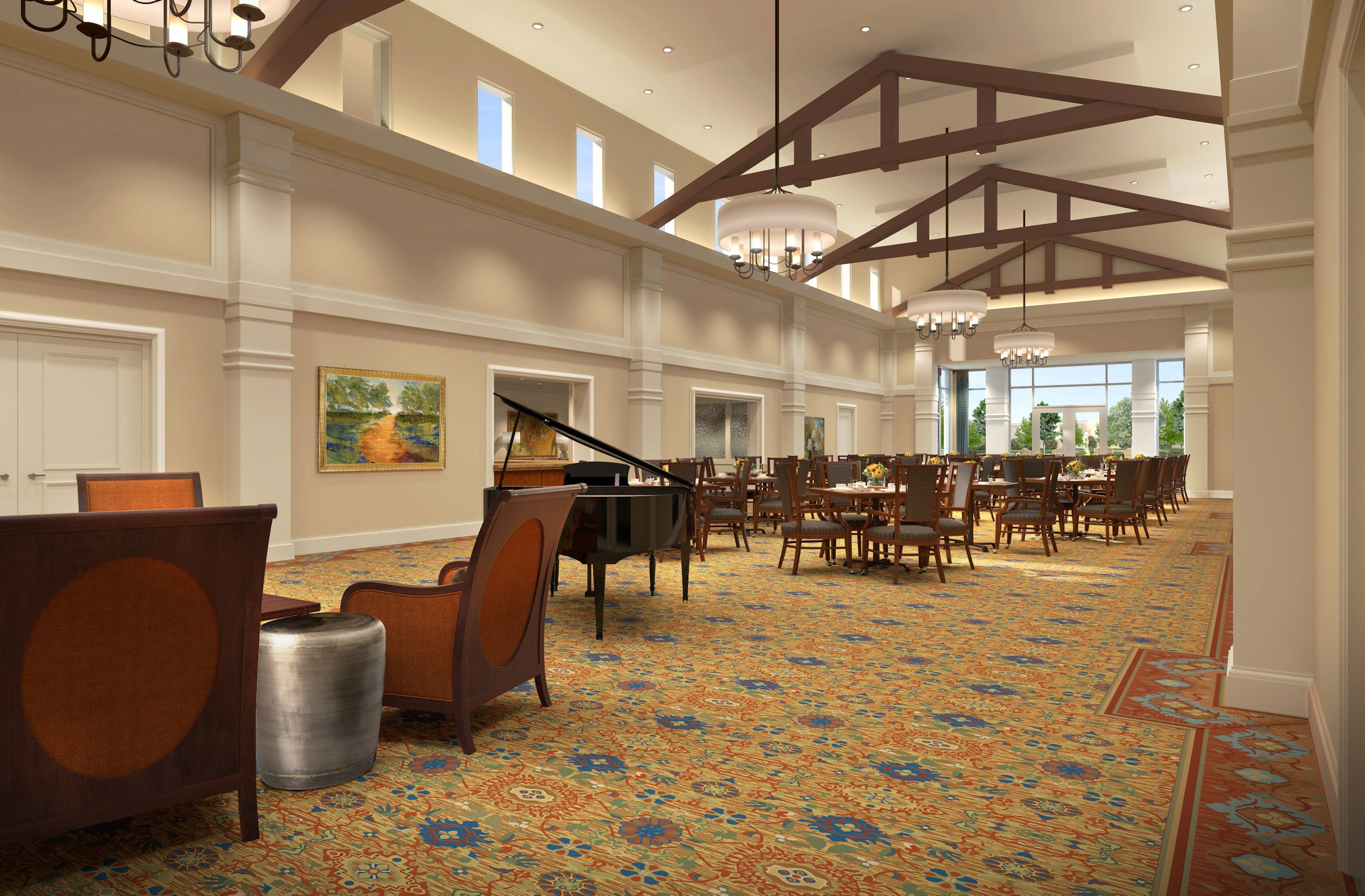 Dining room at HarborChase of Long Grove