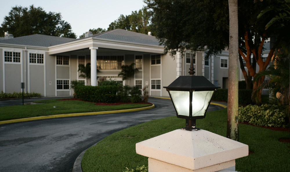 Entrance to our senior living facility in Palm Harbor