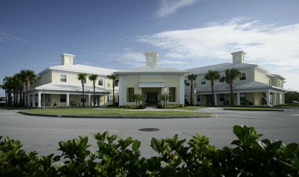Our senior living facility building in Vero Beach
