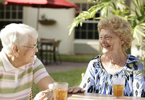 Find new friends at senior living in Naples
