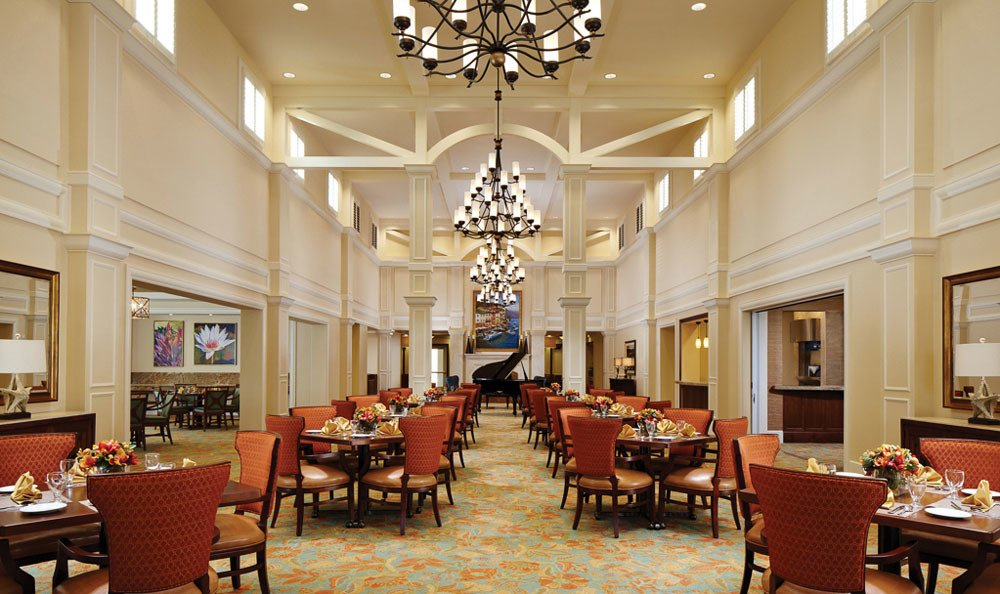 Dine in our amazing Lady Lake senior living hall