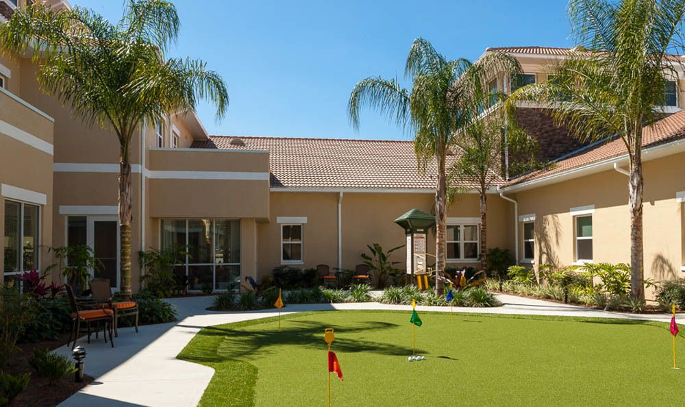 Relax and have a putt at our Lady Lake senior living facility